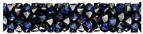 Swarovski 30mm Fine Rock Tube- Bermuda Blue