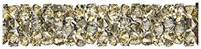 Swarovski 30mm Fine Rock Tube- Golden Shadow