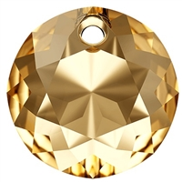 Swarovski #6430 Classic Cut Pendant - Golden Shadow - 14mm