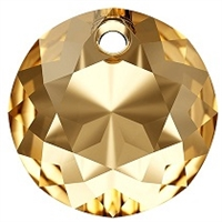 Swarovski #6430 Classic Cut Pendant - Golden Shadow - 8mm