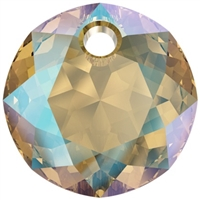 Swarovski #6430 Classic Cut Pendant - Light Colorado Shimmer- 8mm