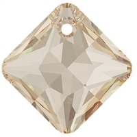 Swarovski #6431 Princess Cut Pendant - Golden Shadow - 11.5mm