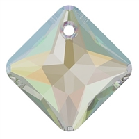 Swarovski #6431 Princess Cut Pendant - Crystal AB - 9mm