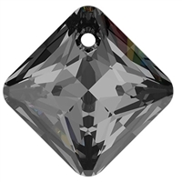 Swarovski #6431 Princess Cut Pendant - Silver Night - 9mm