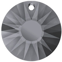 12mm Sun Pendant- Silver Night