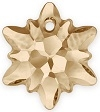 Swarovski 14mm Edelweiss Pendant- Golden Shadow