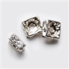 4mm Full Sterling Silver Squaredells- Crystal