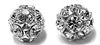 8mm Rhinestone Bead Crystal/Silver