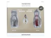 Swarovski Crystalpixie Petite and Edge Nail Art - Rock Shock and Heart's Desire with Gold