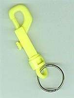 "3 1/2"" Swivel Clip Hook Plastic Neon Mix"