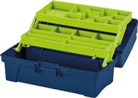 Portable Art Storage Box with Cantliver Tray - Green - 14""