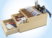 Beadalon Wooden Table Top Organizer