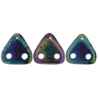 2 hole Triangle Beads-IRIS GREEN