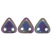 2 hole Triangle Beads-IRIS PURPLE