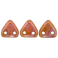 2 hole Triangle Beads-LUSTER ROSE GOLD TOPAZ