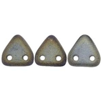 2 hole Triangle Beads-MATTE IRIS BROWN