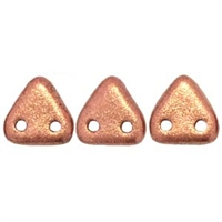 2 hole Triangle Beads-MATTE METALLIC COPPER