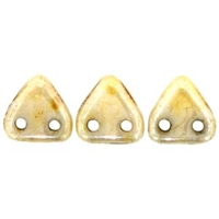 2 hole Triangle Beads-OPAQUE LUSTER PICASSO