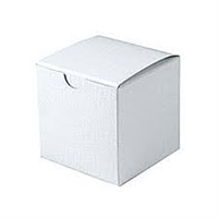 "3"" x 3"" x 3"" White Tuck It Boxes"