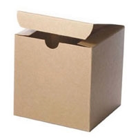 "4"" x 4"" x 4"" Kraft Tuck It Boxes"