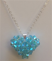 4mm Puff Heart- Light Turquoise AB 2X