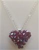 4mm Puff Heart- Ruby AB