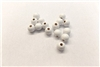 "Finished Wood Beads - 10 mm Round,5/32"" Hole Size - White"