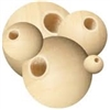 Unfinished Wood Beads - 4 mm Round