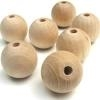 Unfinished Wood Beads - 8mm Round
