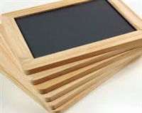"Wood Trimmed Blackboard - 4"" x 6"""
