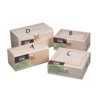 Unfinished Wood Box Sets -9 9170-86, A-D