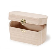 Unfinished Wood Hinged Box with Rounded Sides - 9180-11MMD