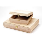 Unfinished Wood Purse Box - 9180-14