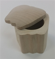 Unfinished Wood Swing Lid Trinket Box - Apple