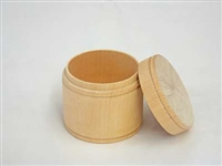 "Round Unfinished Wood Trinket Box - Jumbo 2 13/16"" x 2 1/4"""