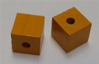 "Wood Cube - 1/2"", 1/8"" Hole - Mango"