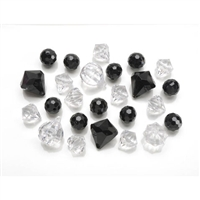 Diamond Gems Acrylic Black Mix