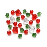 Diamond Gems Acrylic Red Green Mix