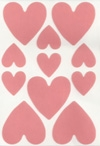 Double Sided Tape Die Cut Sheets - Hearts