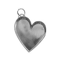 Lisa Pavelka Adornments Leaning Heart Bezel Setting Blank