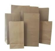 "Gusseted Paper ""Lunch"" Bags - Kraft"