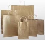 Kraft Paper Handled Shopping Bags