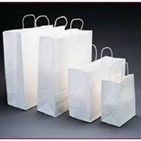 White Paper Handled Shopping Bags