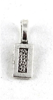 Antique Silver Color Rectangle Glue on Bail