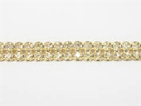 Machine Cut Rhinestone Banding - 2 Row