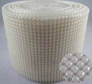 "Plastic Mesh Pearl Ribbon - 24 Line, 4 1/2"" x 10 Yards"