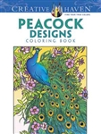 Peacock Designs Coloring Book - Creative Haven, Artwork by Marty Noble