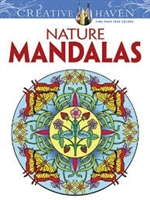 Nature Mandalas Coloring Book - Creative Haven, Artwork by Marty Noble