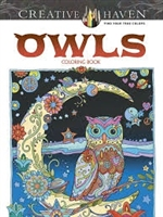 Owls Coloring Book - Creative Haven, Artwork by Marjorie Sarnat