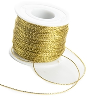 Metallic Cord, 1mm, 100 Yards, Gold